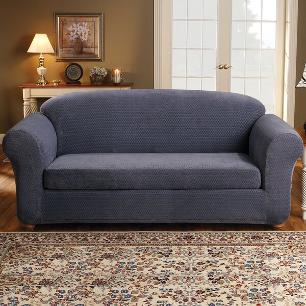 Stretch Royal Diamond Box Cushion Sofa Slipcover by Sure Fit