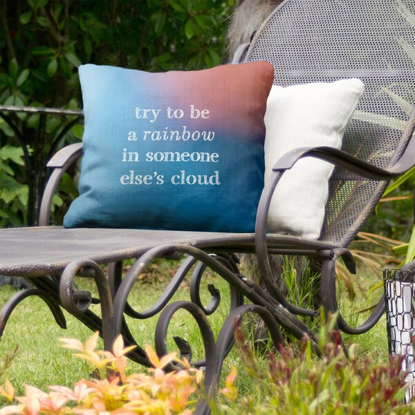 Try to be a Rainbow Indoor/Outdoor Throw Pillow