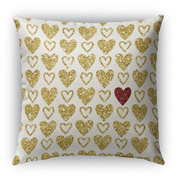 Heart Book Burlap Indoor/Outdoor Throw Pillow by KAVKA DESIGNS