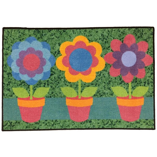 Tacoma Spring Green/Pink/Blue Area Rug by The Holiday Aisle