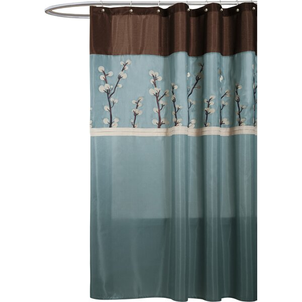 Kozak Embroidered Shower Curtain by Alcott Hill