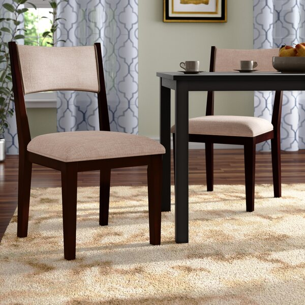 Bathurst Mid-Century Modern Upholstered Dining Chair (Set of 2) by Wrought Studio