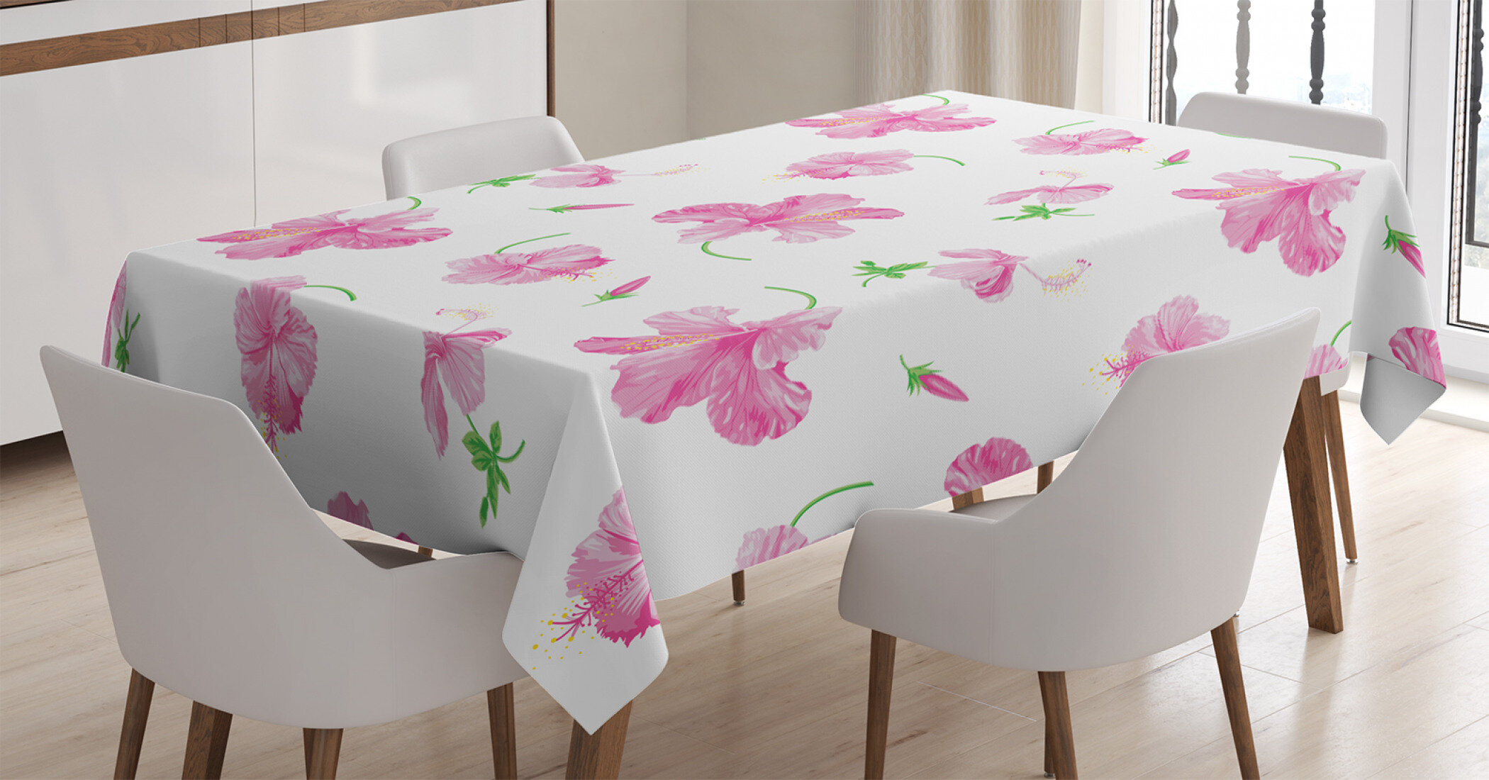East Urban Home Ambesonne Flower Tablecloth Hibiscus Bloom