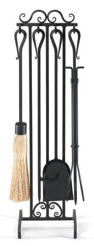 Country Scroll 5 Piece Iron Fireplace Tool Set By Pilgrim Hearth