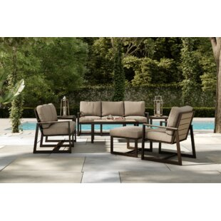 Alessa 5 Piece Sofa Seating Group with Sunbrella Cushions By Gracie Oaks