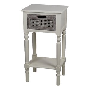 Meddebemps 1 Drawer End Table by Breakwater Bay