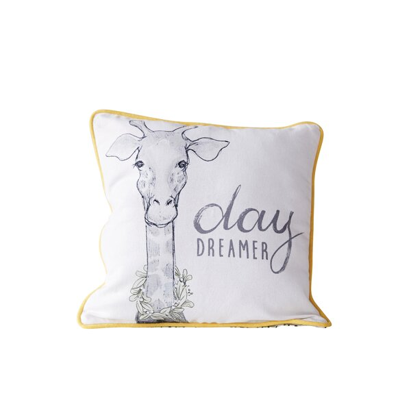 Herrod Day Dreamer Cotton Throw Pillow by Harriet Bee