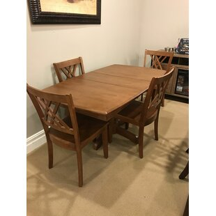 Britney 5 Piece Extendable Solid Wood Dining Set By Alcott Hill