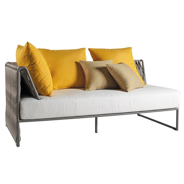 Pasquale Loveseat with Cushions by Bungalow Rose