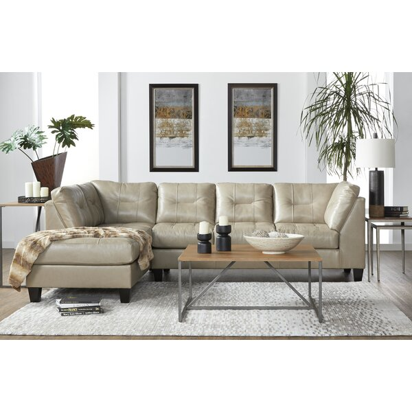 Leather Sectional by Ebern Designs