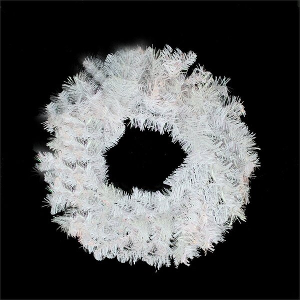 White Iridescent Mixed Pine Artificial Christmas Wreath by Northlight Seasonal
