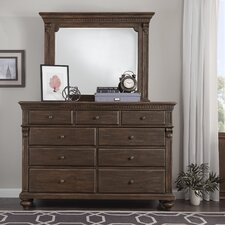 Hartsville 9 Drawer Dresser with Mirror by Darby Home Co