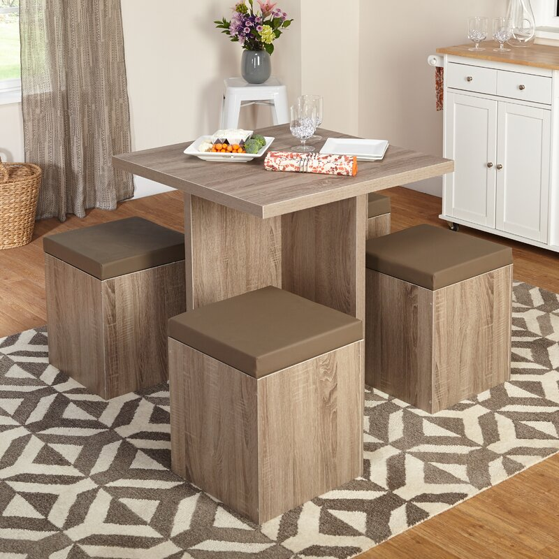 mercury row osgood 5 piece dining set & reviews | wayfair