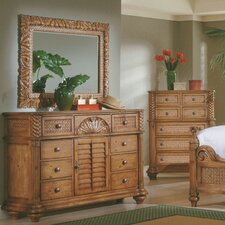 Paradiso 8 Drawer Combo Dresser with Mirror by Bay Isle Home