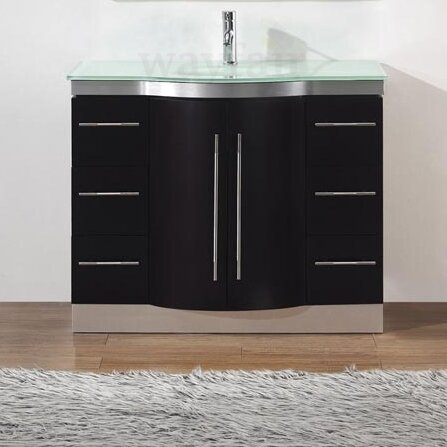 bauhaus bath dinara 42 single bathroom vanity set with. Black Bedroom Furniture Sets. Home Design Ideas