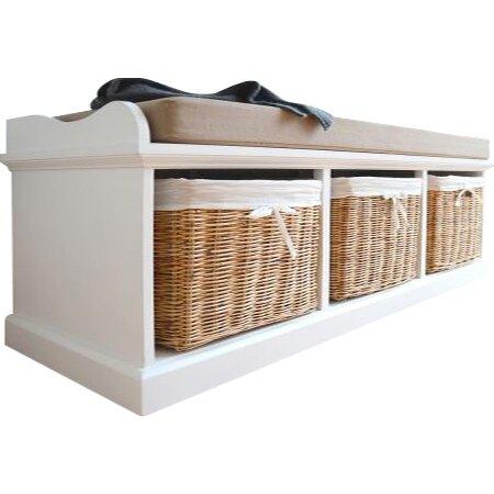 sommerallee sitzbank laurentides aus holz mit stauraum bewertungen. Black Bedroom Furniture Sets. Home Design Ideas