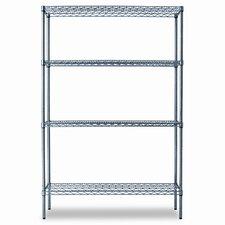 Industrial Wire 72 H 3 Shelf Shelves Shelving Starter Kit by Alera