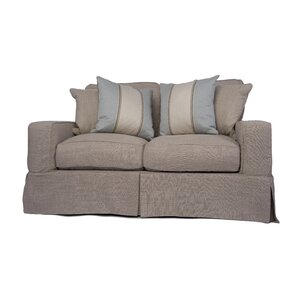Glenhill Slipcovered Loveseat by Rosecliff Heights