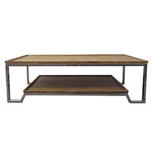 wood plank coffee table | wayfair