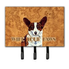 Cardigan Corgi Wipe Your Paws Leash Holder and Key Hook by Caroline's Treasures
