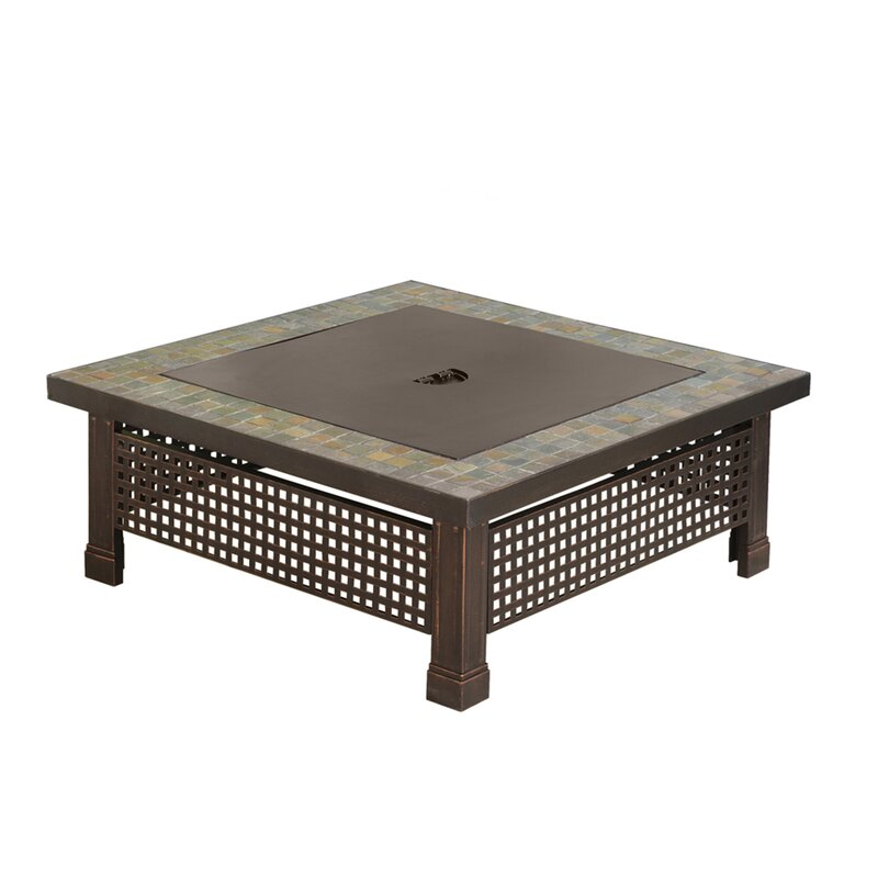 pleasant hearth bradford steel wood burning fire pit table