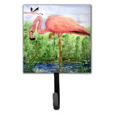 Flamingo Leash Holder and Wall Hook by Caroline's Treasures
