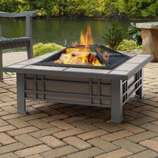 Morrison Steel Wood Burning Fire Pit table by Real Flame