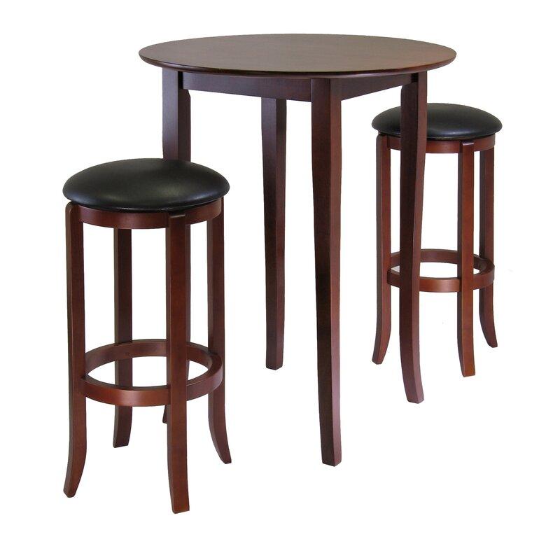Winsome Fiona  Piece Pub Table Set  Reviews Wayfair - Bar stools and table set