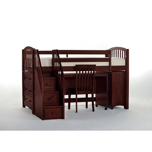 summer store and study loft bed with stairs - Loft Bed Frames