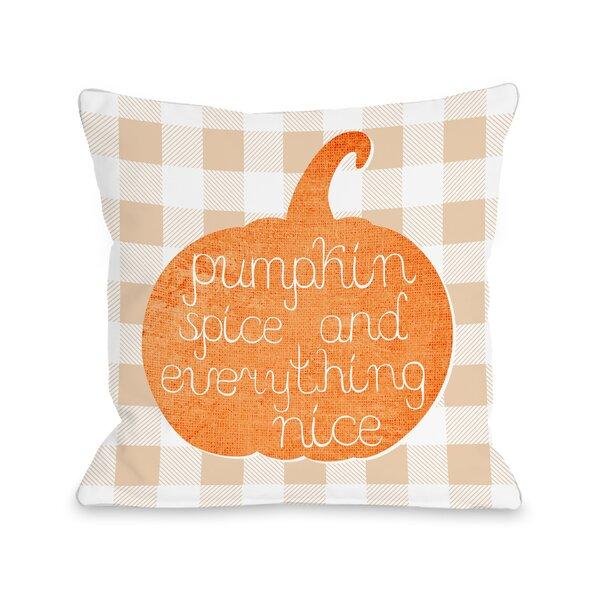 Junien Pumpkin Spice Everything Nice Plaid Throw Pillow by August Grove