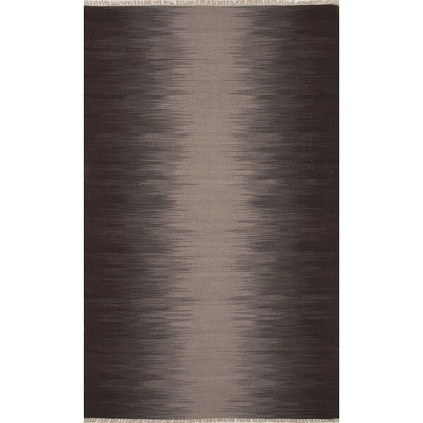 Dionne Wool Flat Weave Gray/Brown Area Rug by Latitude Run