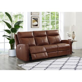 Amasia Leather Reclining Sofa by Winston Porter SKU:EA957265 Description