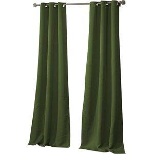 Morton Solid Blackout Grommet Curtain Panels (Set of 2)