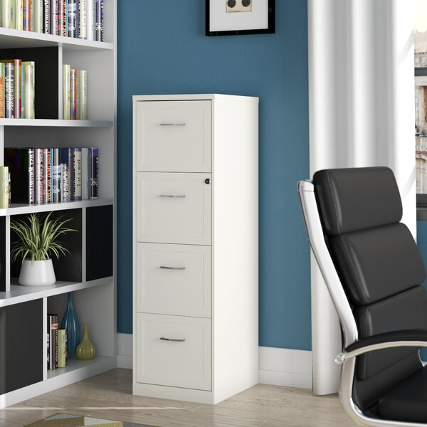 Cavitt 4 Drawer Vertical Filing Cabinet by Ebern D