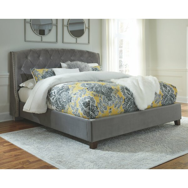 Loren Upholstered Standard Bed by Alcott Hill