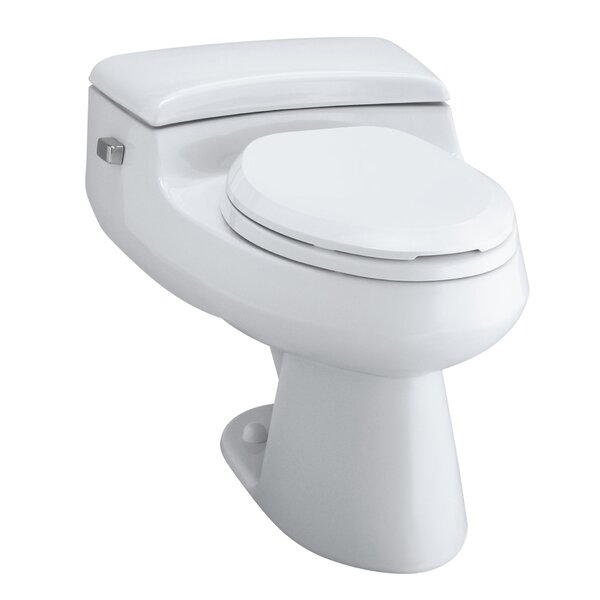 San Raphael Comfort Height One-Piece Elongated 1.0 GPF Toilet with Pressure Lite Flush Technology and Left-Hand Trip Lever by Kohler