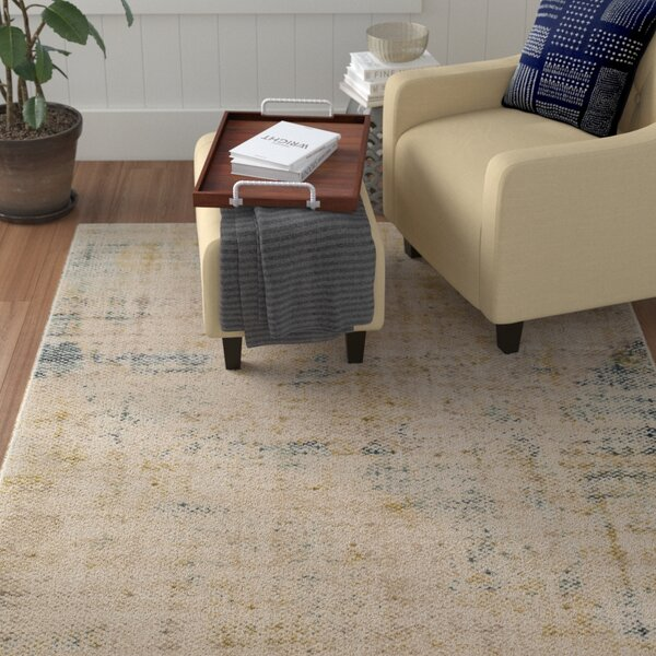 Holmes Distressed Navy Area Rug by Winston Porter