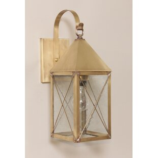 Deals Michaela 1-Light Outdoor Wall Lantern By Longshore Tides