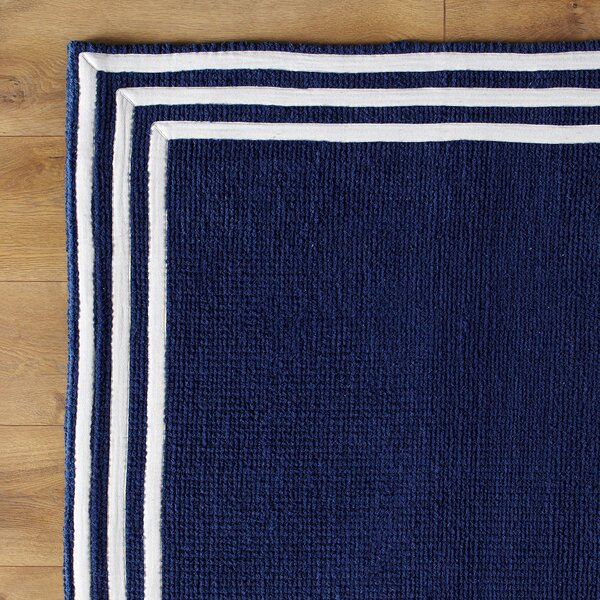 Three Strikes Navy Rug by Birch Lane Kids™
