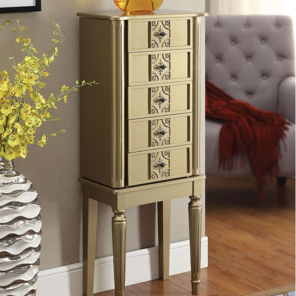 Hinrichs Wood Free Standing Jewelry Armoire by Red Barrel Studio