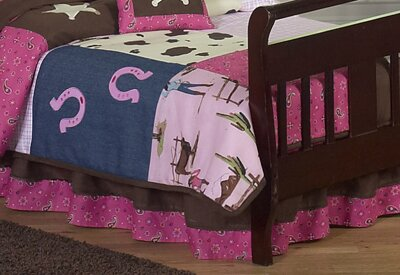 Cowgirl Toddler Bed Skirt by Sweet Jojo Designs