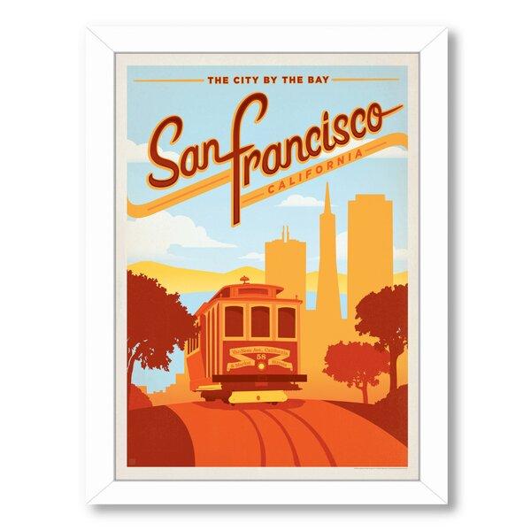 San Francisco Framed Vintage Advertisement by East Urban Home