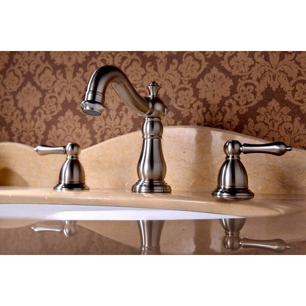 Apogee Widespread faucet Bathroom Faucet with Drain Assembly by Lenova