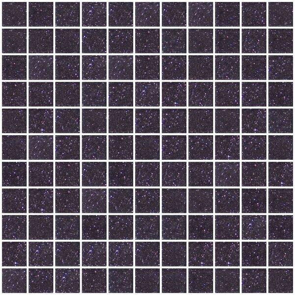 1 x 1 Glass Mosaic Tile in Purple Plum by Susan Jablon