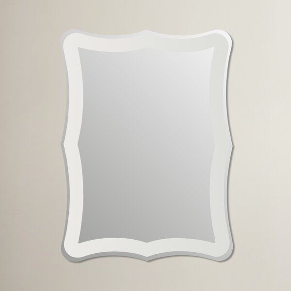 Logan Frameless Wall Mirror by Wrought Studio