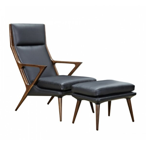Ellesmere Lounge Chair and Ottoman by Corrigan Studio