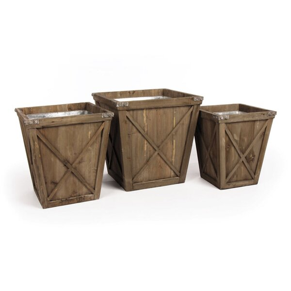 Hamer Covered Porch 3-Piece Wood Pot Planter Set by Laurel Foundry Modern Farmhouse