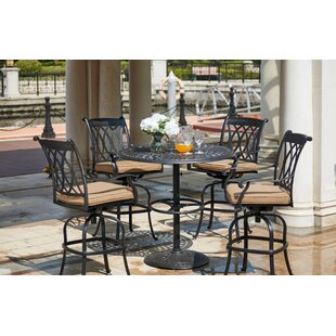 Melchior 5 Piece Bar Height Dining Set with Cushions By Astoria Grand