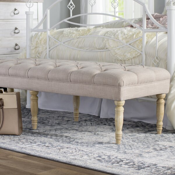 Paulus Upholstered Bench By Feminine French Country by Feminine French Country Great Reviews