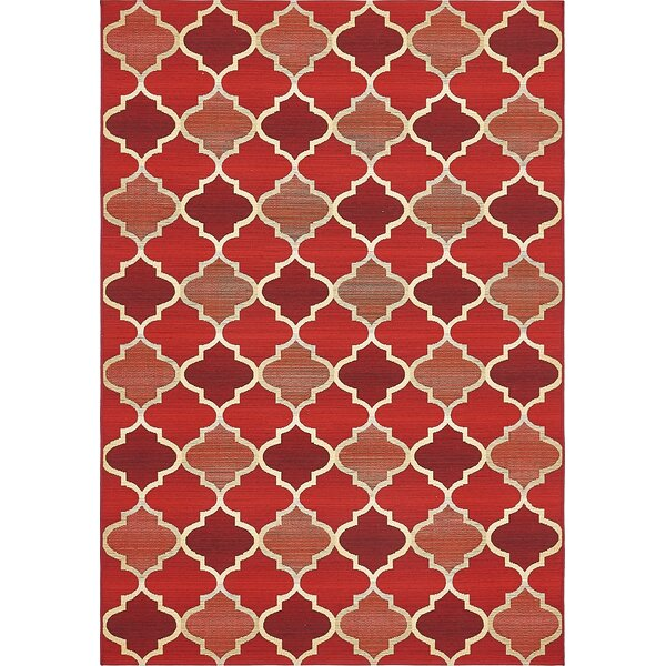 Alice Red Indoor/Outdoor Area Rug by Winston Porter